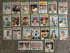 St. Louis Cardinals Baseball Cards Lot 1,000 Different 1977 Team Set Much More!!