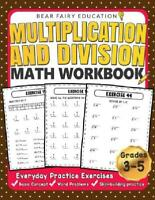 Multiplication And Division Math Workbook For 3rd 4th 5th Grades Paperback NEW