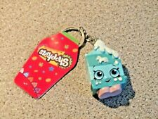 Shopkins Dangler Keychain Blue Unicorn Ice cream Bag hanger Tag Key ring