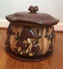 1974 RARE Arnels Mushroom Ceramic Custom Painted Canister Set 6 Piece
