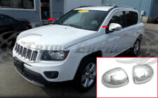 fit:2007-2016 Jeep Compass Chrome Mirror Covers 2Pc
