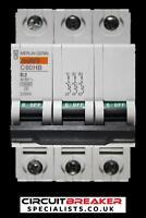 MERLIN GERIN 2 AMP TYPE B 10kA TRIPLE POLE MCB CIRCUIT BREAKER C60HB 25866