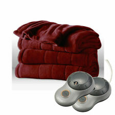 Sunbeam 31160198 Electric Heated Blanket, SIze King - Red