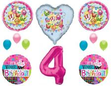 XL SHOPKINS 4th Happy Birthday Party Balloons Decoration Cupcake Fourth Cookie