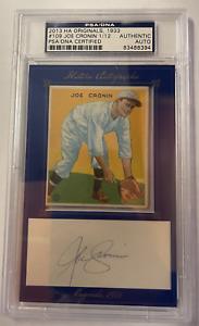 2013 HA Originals 1933 Goudey HOF JOE CRONIN Cut Auto 1/12 #109