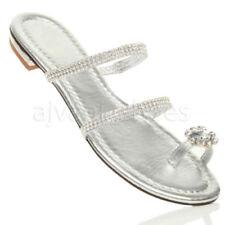 Scarpe da donna blocchetto con tacco basso (1,3-3,8 cm) in argento