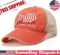 Trump 2020 Hat Baseball Mesh MAGA Embroidered Cap Keep America Great A+++ USA