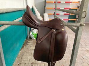 Prestige Dressursattel Top Dressage SP dubliert tabacco 17/33 plus 2 cm hinten