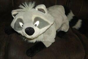 "Vintage 90s Disney Mattel Meeko Racoon 36"" Plush Pocahontas Large Stuffed Animal"