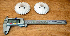 """Bevel gears, 1 pair in Delrin, 1:1 ratio, 8 DP, 28 teeth, mounting distace 2.5"""""""