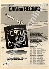 Can Future Days UAS 29505 City Hall, Newcastle MM4 LP/Tour Advert 1974