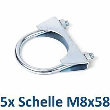 5x Rohrverbinder 5 Stück Bügelschellen Auspuff Schellen M8x58