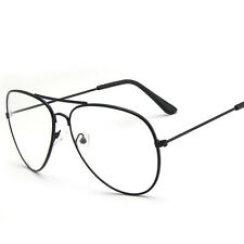 Vintage Classic Men Women Chic Big Round Sunglasses Clear Lens Glasses Geek