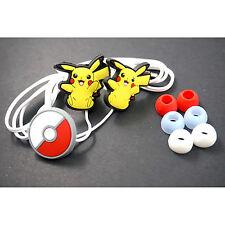 NEW Pokemon Pikachu Pokeball Headphone Headset Earphone Earbud For iPhone MP3 /4