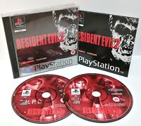 Resident Evil 2 ~ Sony Playstation PS1 Black Label Game ~ PAL *Excellent CIB*