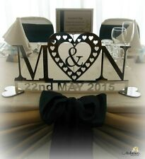 Top Table Wedding personalised Mirror Wedding Sign Mr & Mrs, Initials.