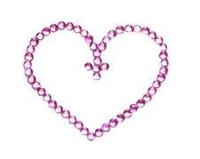 Glamorous & splendid- pink love heart easy stick on & cute belly tattoo (ZX270)