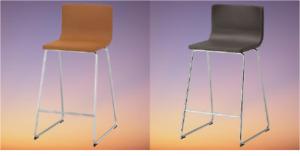 *New BERNHARD Bar stool with backrest golden-brown  dark brown, 66 cm Brand IKEA