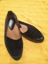 "Earthies womens ""Fontana"" low heel loafers shoes 6 B black leather"