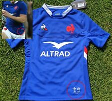 Maillot Rugby #8 Alldritt match Equipe France - Pays de Galles 6 Nations 2020 L