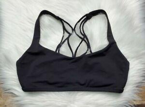 LULULEMON Strappy Back Sports Bra Women's Size 8 Black