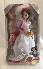 "Disney Princess Snow White Royal Wedding Doll 16"" Porcelain Brass Key"