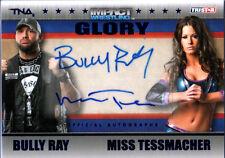 TNA Bully Ray & Miss Tessmacher 2013 GLORY BLUE Dual Autograph Card SN 3 of 10