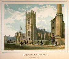 MANCHESTER CATHEDRAL EXTERIOR -1880- South West View
