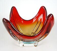 Murano vidrio cáscara/zipfelschale vintage Venetian glass bowl 16 x 16cm