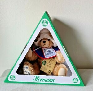 """HERMANN 14"""" """"Dutch Girl Bear"""" Limited Edition Fully Jointed, Mohair, Germany NEW"""