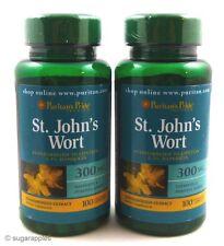 2X St. John's Wort 300Mg 200 Caps 0.3% Hypericin Depression Anxiety ADHD OCD