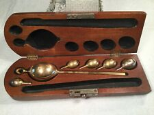 🔴 Antique Brass Saccharometer Hydrometer 2765 Customs & Excise C&E Wooden Box