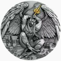 2020 Niue HORUS GODS OF ANGER 2oz .999 Ultra High Relief Silver Coin - Box & COA