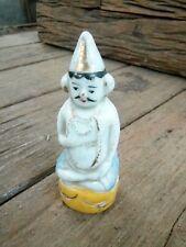Antiguo Dios Hindú Goddess Cerámico Azulejos Porcelana Vintage Hecho En India