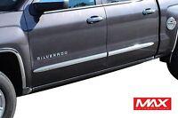 "BSCH606 1999-2006 Chevy Silverado Crew Cab Chrome Side Door Body Molding Trim 2"""