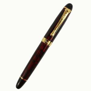 Mode Jinhao 450 dunkelroter Füllfederhalter mit goldenem Clip-Schreibstift