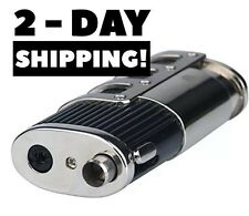 Triple Jet Flame Butane Cigarette Torch Lighter Gun with Cigar Punch Cutter