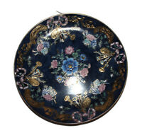 Vintage Cloissone-look Plate with Decorative Painting 10 inches Wide