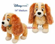 "Disney Store Exclusive Plush Dog ""Lady"" and the Tramp Med 14"" Stuffed 2016 NEW"