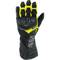 IXS RS-200 Leather Motorcycle Gloves Safety Yellow Men's