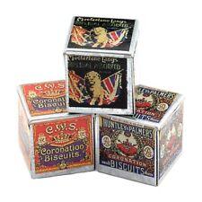 miniatura per casa delle bambole Set di 3 vecchio stile METALLICA BISCOTTI LATTA