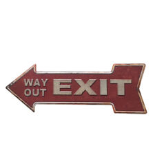 """11 x 6/"""" WAY OUT EXIT DIRECTION  228 METAL SIGN"""