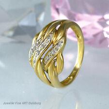 Ring in 585/- Gelbgold mit Brillantbesatz