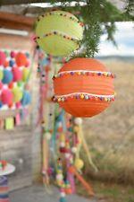 Mexican Party Garland, multi colour 20mm pom poms x 2 Metre long