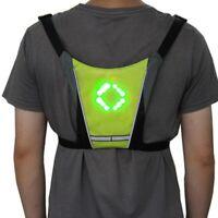 Reflective Safety Vest Jacket  LED Wireless Turn Signal Light Cycling Coat