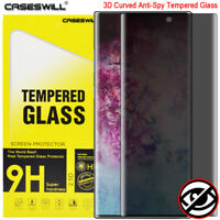 For Samsung Galaxy Note 10 Plus Curved Tempered Glass Privacy Screen Protector