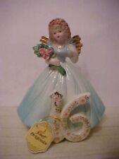 vintage josef originals birthday angel age 16 figurine & tag