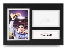 Dino Zoff Signed A4 Photo Display Italy Autograph Memorabilia COA