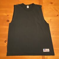 Vtg RUSSELL ATHLETIC Men's Black Muscle Tank Sleeveless T-Shirt Size Size Large