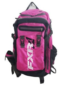 FXR BACKPACK RIDE PACK FUCHSIA PINK BLACK WHITE SNOWMOBILE BAG 183202-9010-00